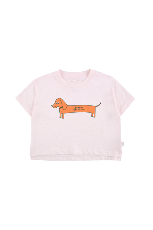 Otto Il Bassotto Cropped T-Shirt by Tinycottons