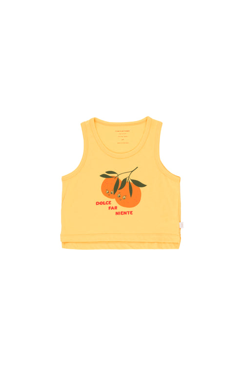 Oranges Cropped Tank Top by Tinycottons