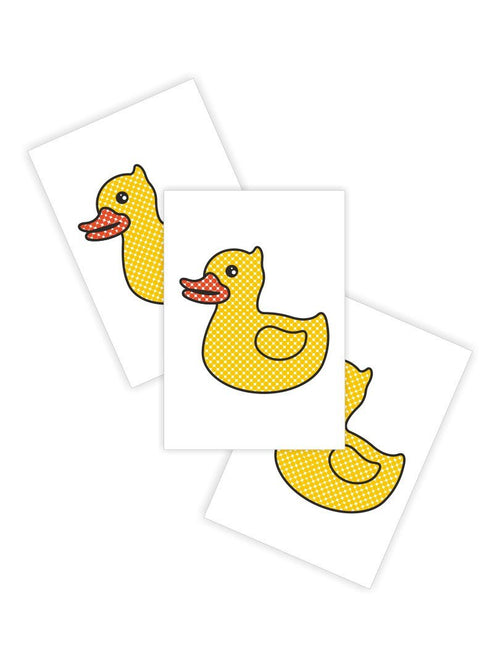Ducky Street Rubber Duck Temporary Tattoos