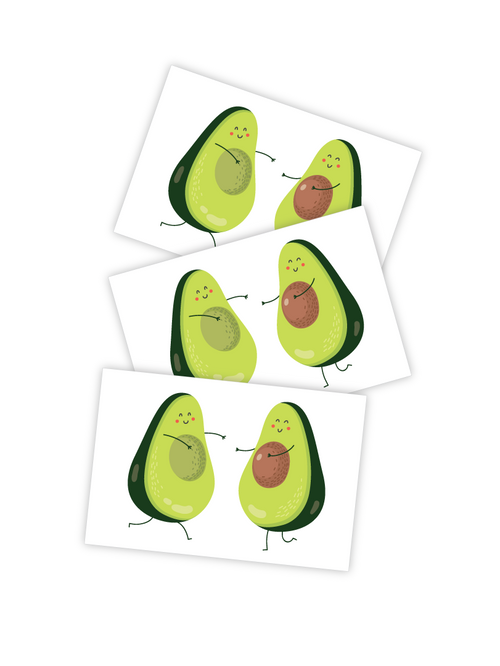 Ducky Street Avocado Temporary Tattoos