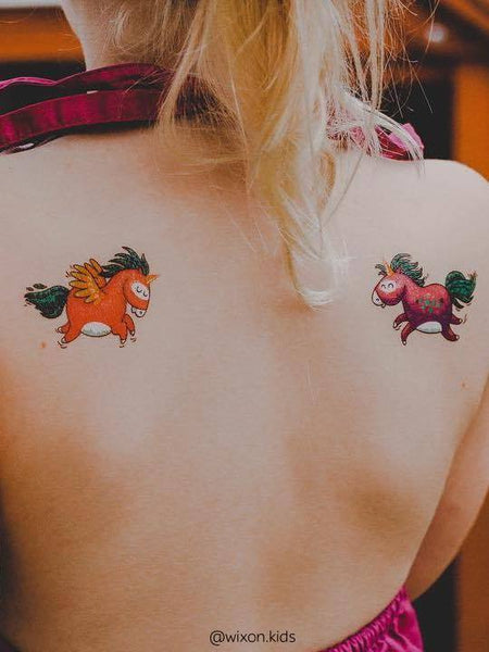 Rainbow unicorns temporary tattoos