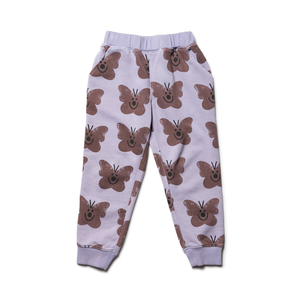 Wynken Purple Butterfly Sweatpants