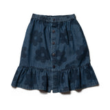 Wynken flowers denim skirt