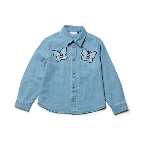 Wynken butterfly denim shirt