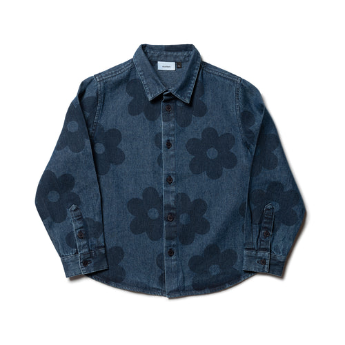 Wynken flower denim shirt