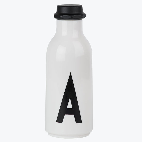 Design Letters water bottle inital