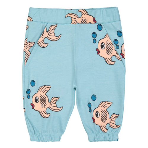 Hugo Loves Tiki Knee Sweatshorts Blue Fish | POPS & OZZY