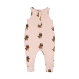 Hugo Loves Tiki brown canguro romper