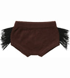 Decadent Dachshund Fringed Knit Bloomers