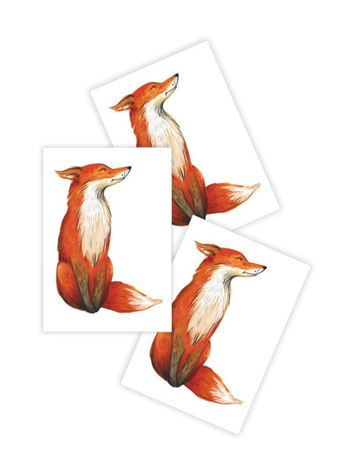 Ducky Street Fox Temporary Tattoos