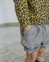 Maed For Mini Sneaky Snake Striped Chino Shorts model POPS & OZZY
