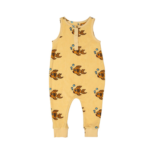 Hugo Loves Tiki yellow fish terry romper