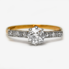 Art Deco Diamond Set Shoulders Solitaire Engagement Ring