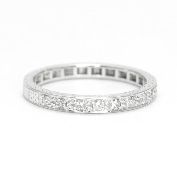 .25 carats Diamond Half Eternity Platinum Ring - Friar House