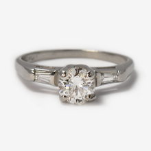 Platinum Art Deco Diamond .60 carat Solitaire Ring