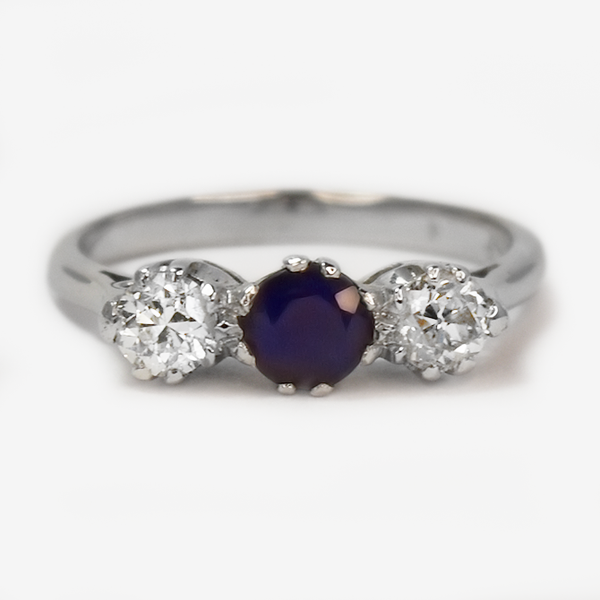 Art Deco Sapphire and Diamond Ring.