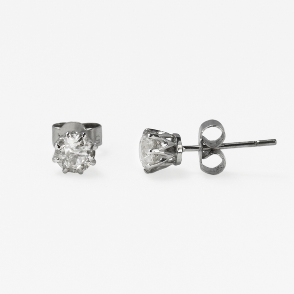 1930's Old Cut Diamond Stud Earrings