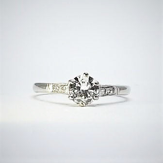 Diamond Solitaire Ring 18 Carat White Gold
