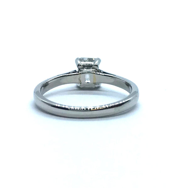 Emerald Cut Diamond Solitaire Ring