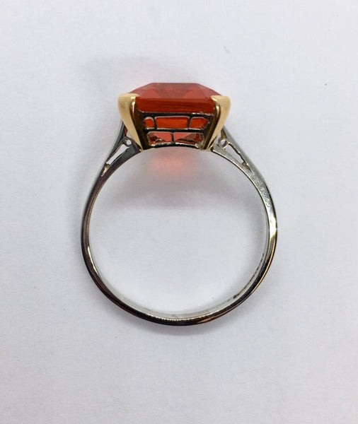 Art Deco Fire Opal Ring