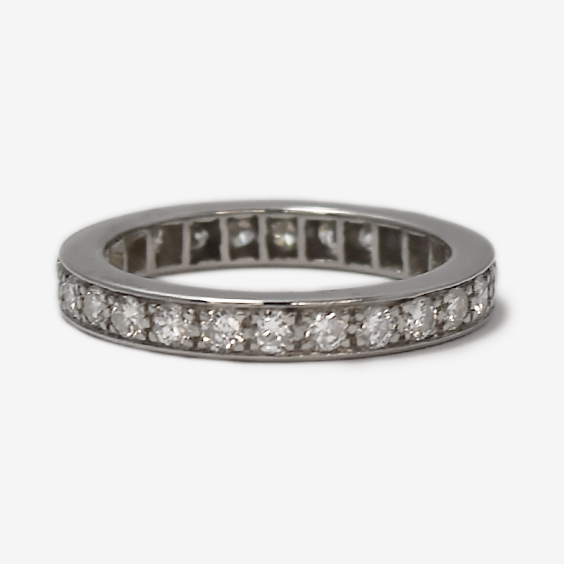 Platinum Full Set Eternity Ring