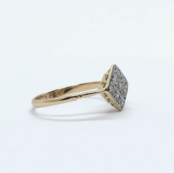 1920's Diamond Panel Ring