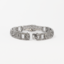 Art Deco Platinum Set Diamond Panel Bracelet