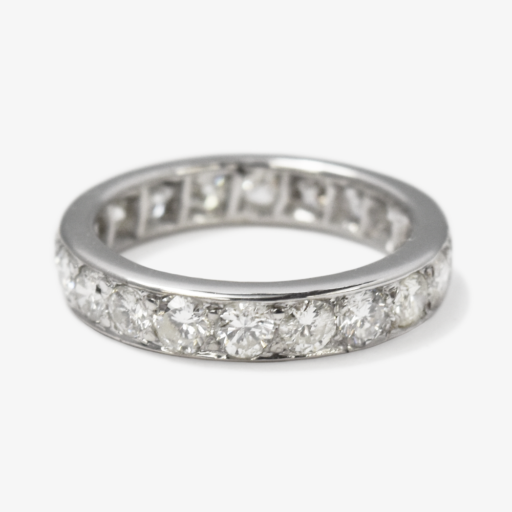 Vintage Full Set Diamond Eternity Ring