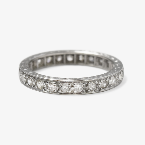 Art Deco Platinum Diamond Eternity Ring