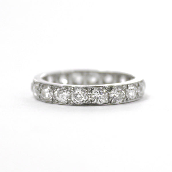 Art Deco Platinum Diamond Eternity Ring 2.85 carats