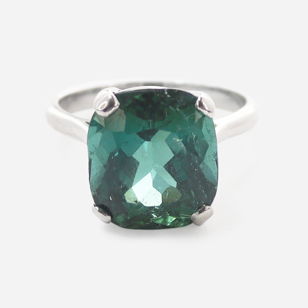 6 Carat Green Tourmaline Ring