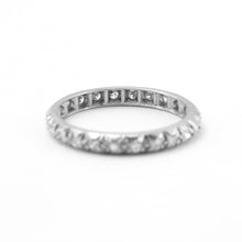 Art Deco 18 Carat White Gold Full Set Diamond Eternity Ring