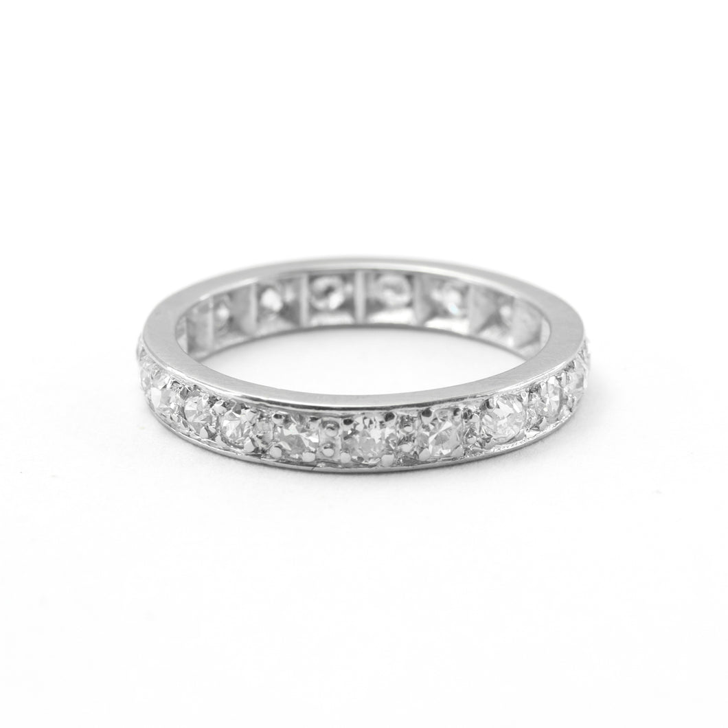 Vintage Platinum Diamond Eternity Ring