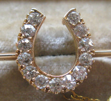 Victorian Diamond Horseshoe Bar Brooch