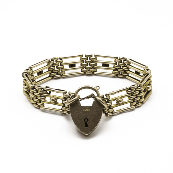 9ct Rose Gold Gate Link Bracelet - Friar House
