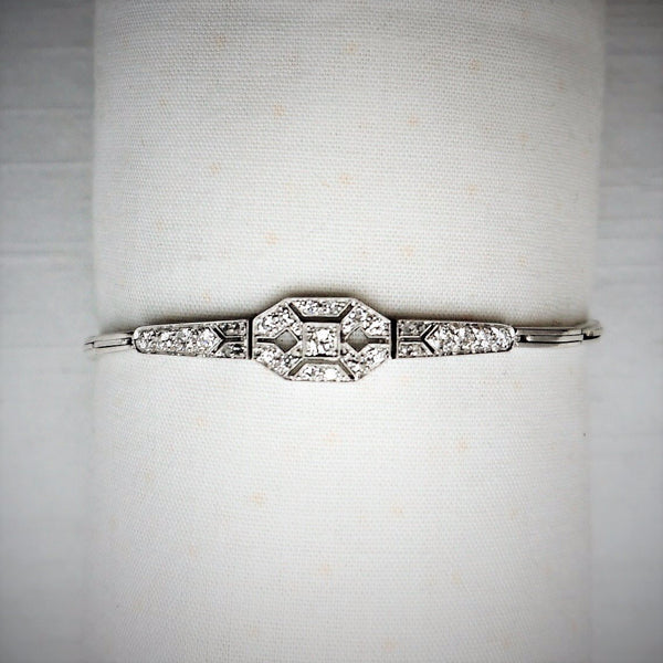 Art Deco Diamond Panel Bracelet