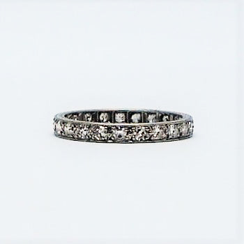 1930's Platinum Diamond Full Eternity Ring