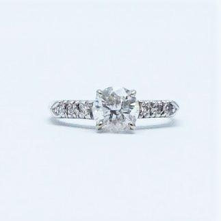 Art Deco Diamond Solitaire Ring 1 Carat