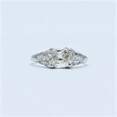 Art Deco Diamond Solitaire Engagement Ring 1.35 carat