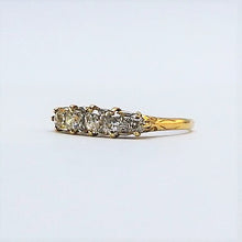 1920's Art Deco Five Stone Diamond Ring