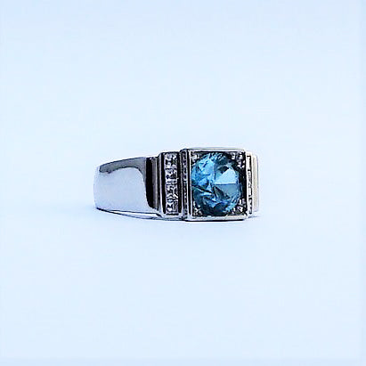 Vintage Zircon and Diamond Ring.