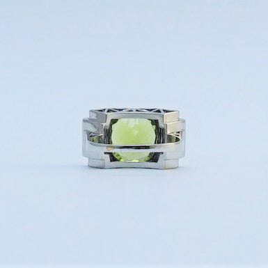 Vintage 1940 Peridot and Diamond Ring.