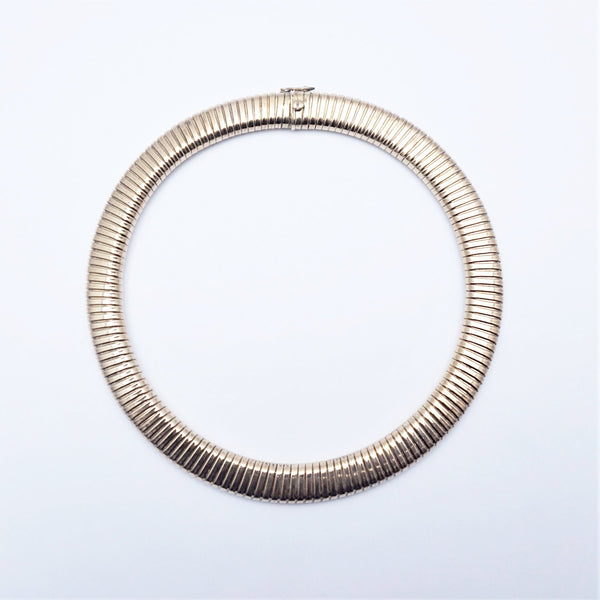 Edwardian Gold Gas Pipe Collar Necklace