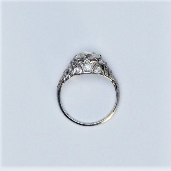 Art Deco 1.90 Carat Diamond Solitaire Engagement Ring