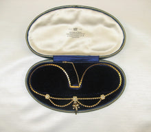 Victorian Seed Pearl Gold Swag Necklace