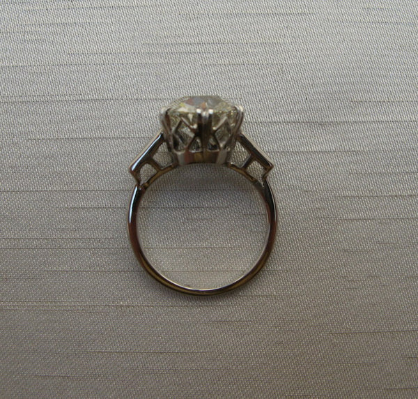 Platinum 4 Carat Diamond Solitaire Ring