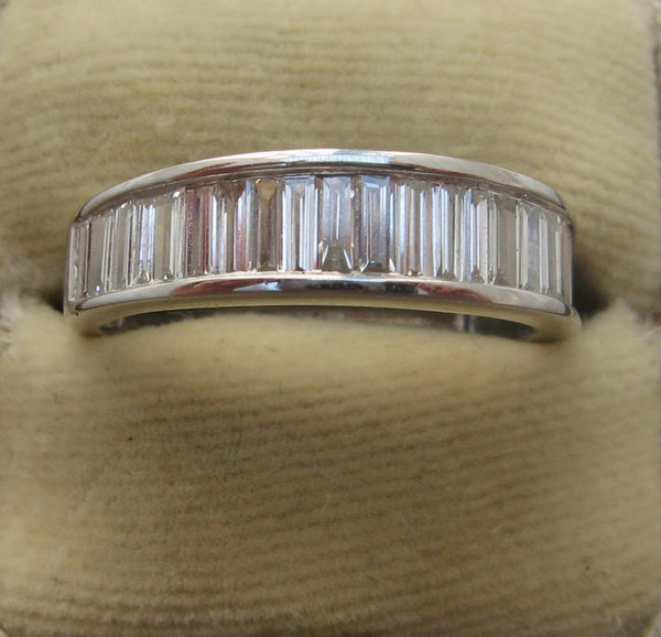 Contemporary White Gold Diamond Half Eternity Ring