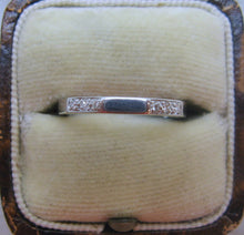 Art Deco 1930's Platinum Diamond Set Band