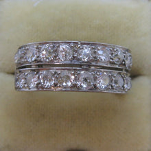 Double Row Art Deco Platinum Diamond Ring