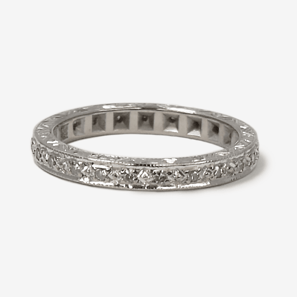 Art Deco 18ct white gold Diamond Eternity Ring - Friar House